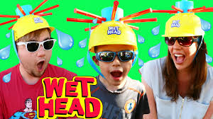 Wet Head Board Game Challenge Where Water Splashes When You Play