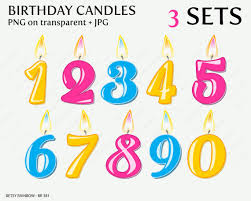 Number 1 Birthday Birtday Candle Clipart