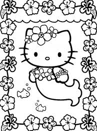 Mermaid Hello Kitty Coloring Pages Free Printable