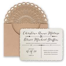 A Kraft Laser Cut Pocket Introduces Your Wedding Invitation With Amazing Style