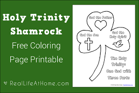 This Holy Trinity Shamrock Free Coloring Page Is A Perfect Way To Talk Kids About