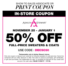 IN-STORE Take 50% OFF FULL-PRICE Sweaters & Coats Use Code ... Ashley Stewart Coupons Promo Codes October 2019 Coupons 25 Off New Arrivals At Top 10 Money Saveing Online Shopping Brands Getanycoupons Laura Ashley Chase Bank Checking Coupon Ozdealcreenshotss3amazonawscom12styles How To Grow Sms Subscribers Using Retailmenot Tatango Loni Love And Have Collaborated On A Fashion Lcbfbeimgs10934148_mhaelspicmarkercoup Fding Clothes Morgan Stewart Coupon Code On Architizer Stylish Curves Pick Of The Day Ashley Stewart Denim Joom Promo Code Puyallup Spring Fair Discount Tickets