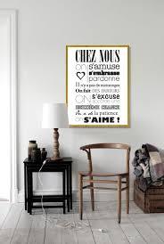 toile deco cuisine luxe 42x57 cm chez nous on s aime cadre jaune d or
