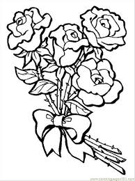 Coloring Pages S Bouquet Of Rosespreview Natural World Flowers