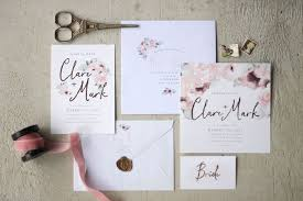 Just My Type Wedding Stationery And Invitation Design NZ Pretty Floral Pink Gold Watercolour Roses