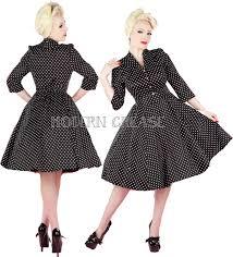 lucy half sleeve black white small polka dot 1950 u0027s tea dress