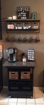 Coffee Bar Made From Old Microwave Cart Makeover Shelf Hobby Lobby