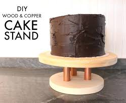 Wood Cake Stand Copper Wooden Wedding Uk