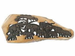 wandbild wohnzimmer thai elefanten wandrelief schnitzerei
