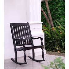Outdoor Rocking Chairs Under 100 by Solid Wood Porch Rocker Black Sam U0027s Club