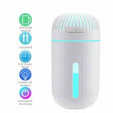 mini ultraschall luftbefeuchter 310ml usb humidifier aroma diffuser mit 9 farben led nachtlicht automatische abschaltung leise raumbefeuchter für