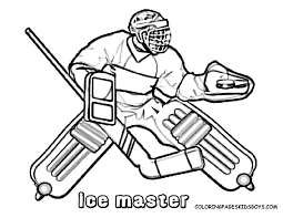 Winter Hockey Coloring Pages Free Printable