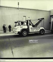 100 Free Tow Truck Service Truck Body Being Pulled Free By The Tow Truck January 25 1973