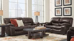 lr rm sanderson walnut5 Sanderson Walnut Leather 3 Pc Living Room with Reclining Sofa