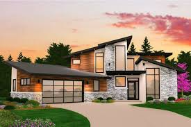 100 Modernhouse Gianni Two Story Modern House Plan With Garage Modern Home Plans