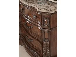 Ortanique Dining Room Chairs by Millennium Ledelle Three Drawer Night Stand With Natural Marble