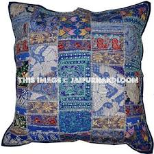 Large Decorative Couch Pillows by 24x24 Vintage Decorative Throw Pillows Blue Couch Pillows Sofa
