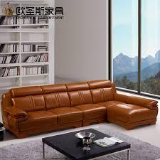 canapé design cuir pas cher brun salon meubles ensemble canapé design moderne l forme coupe pas