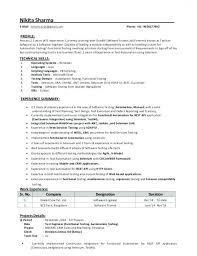 Download Sample Resume For Software Tester 2 Years Experience 99 Of
