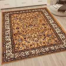 klassisch orient teppich dicht gewebt wohnzimmer beige braun vimoda homestyle