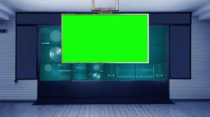036 Mission Control 4K Virtual Studio Set News Green Screen Background