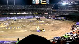 100 Monster Truck Oakland Jam Oakland 02222014 YouTube