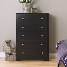 Cheap Black Dresser Drawers by Amazon Com Black Sonoma 5 Drawer Chest Kitchen U0026 Dining