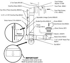 640abs bath drain schedule 40 trip lever installation