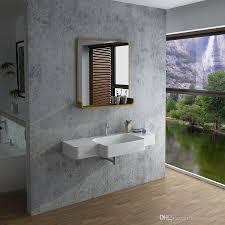 großhandel rechteckige badezimmer feste oberflächensteinwand hing wanne moderne garderobe steinmattes oder glattes waschbecken rs38189