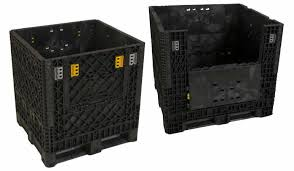 Industrial Pastic Crate With Drop Gate