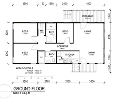 Decor Nice Simple Small 3 Bedroom Rectangular House Plans 1700s