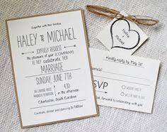Items Similar To Whimsical Wedding Invitation Rustic Chic Modern Invitations DIY On Etsy