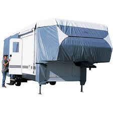 Classic Accessories Poly Pro III Deluxe 5th Wheel RV Trailer Storage Cover Grey