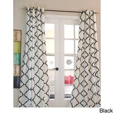 96 Inch Curtains Walmart by Morocco Flocked Faux Silk Grommet Top 96 Inch Curtain Panel White