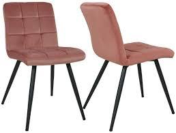 esszimmerstuhl aus stoff samt farbauswahl stuhl retro design polsterstuhl mit rückenlehne metallbeine duhome 8043b farbe pink material samt