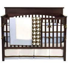 Bacati Crib Bedding by Bacati Metro Blue White U0026 Chocolate 4pc Crib Bedding Set