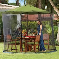Offset Patio Umbrella W Mosquito Netting by 9ft Umbrella Screen