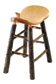 Rustic All Hickory Western Saddle Bar Stool 24