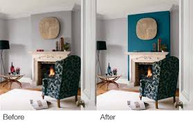 Teal Living Room Walls by Teal Accent Wall Fireplace Wall But Use Blue Of Chair Accent The