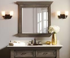 Rustic Industrial Bathroom Mirror by Elegant Bathroom Decor With Gold Vase And Rustic Bathroom Mirror