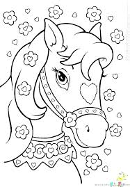 Coloring Page Of A Horse Mother And Foal Pages Horses Barbie Free Book