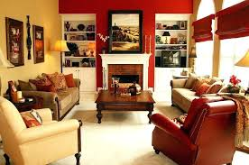 Burgundy Accent Wall Living Room Red Brightens The Fabulous Design