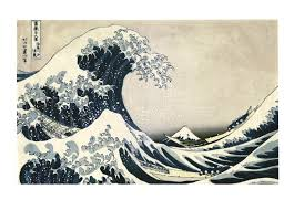 Under The Wave Off Kanagawa By An Unknown Artist After Hokusai Japanese Prints
