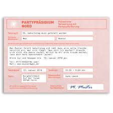 Einladungskarten Zum Geburtstag Als Strafzettel Auto Polizei