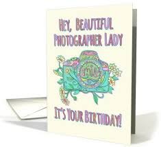 Happy Birthday beautiful photographer cute camera illustration card Greeting cards of all sorts Pinterest