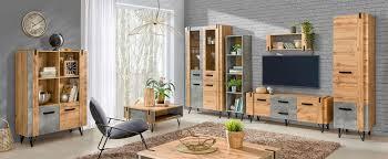wohnzimmer komplett set a atule 6 teilig farbe eiche grau