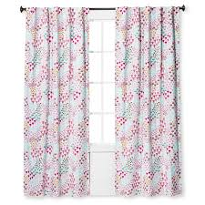 Pink Sheer Curtains Target by Twill Light Blocking Floral Print Curtain Panel Apricot Ice 42