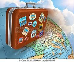 Travel Around The World Concept Stock Illustration