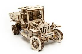 UGears Mechanical Wooden Model 3D Puzzle Kit Truck UGM 11