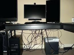 Ikea Bekant L Shaped Desk by Fine Desk Cable Management Photos U2013 Trumpdis Co